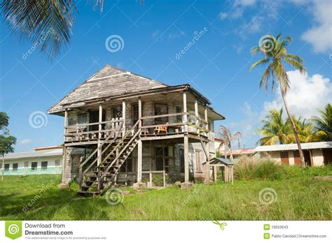 colonial house plan caribbean wooden house stock photos image 19553643