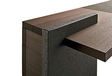 Desk Ho Desk With Stone Inlay, Poltrona Frau