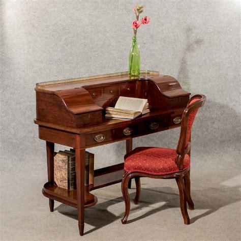 vintage mahogany desk antique writing desk bureau mahogany quality bon 3242