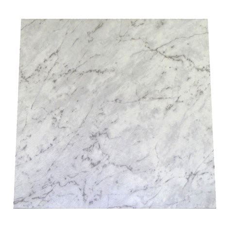 tiles bunnings winton 457 x 457mm white marble self stick vinyl tile