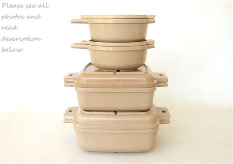 microwave cookware litton ware casserole dishes lids bowls qt etsy