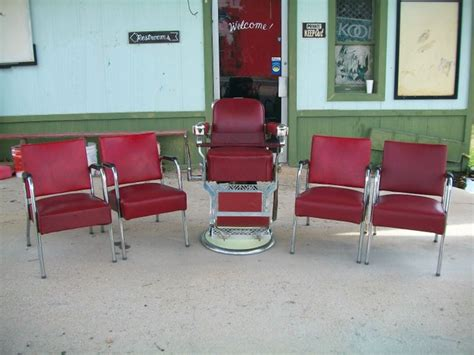 an antique barbers chair will add vintage charm to your