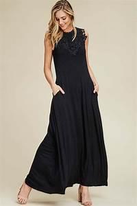 Rachael Floral Crochet Dress Black Gozon Boutique