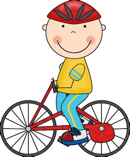 Boy and bike clipart - Clip Art Library