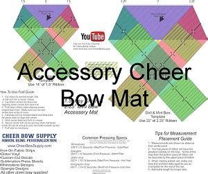 diy cheer bow long tail softball cheer bow template mat