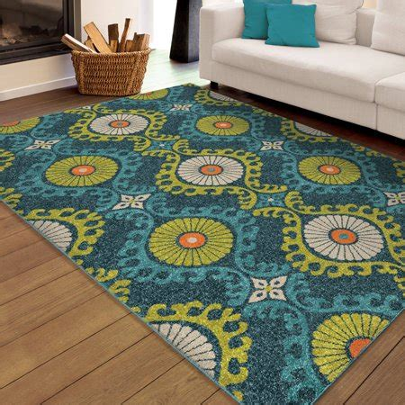 bright colored outdoor rugs orian rugs bright indoor outdoor scroll medallion floating