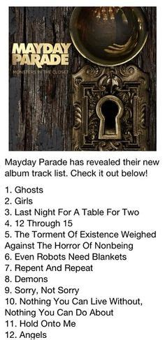 Monsters In The Closet Album by 1000 Images About Mayday Parade On