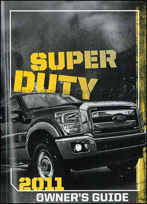 ford super duty owners manual original