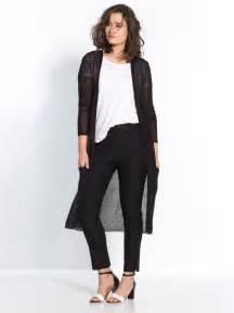 Gilet Long Noir Femme : gilet long noir femme le mien poss de de grandes poches ~ Voncanada.com Idées de Décoration