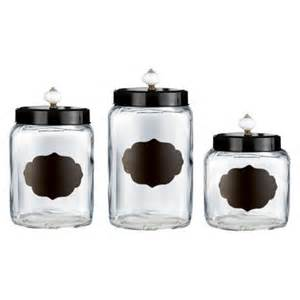 glass kitchen canister set atelier glass canister set of 3 target