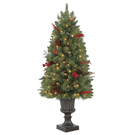martha stewart living christmas lights martha stewart living 4 ft winslow potted artificial