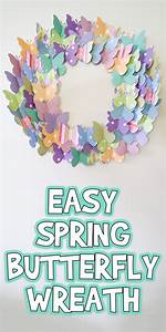 Easy Spring Butterfly Wreath