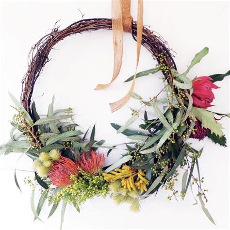 artificial australian native christmas wreath wreath dy o events the space collective