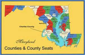 Maryland Map with Counties