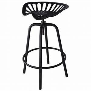 Tabouret Siege Tracteur : chaises de bar tabouret noir avec design siege de tracteur ~ Teatrodelosmanantiales.com Idées de Décoration