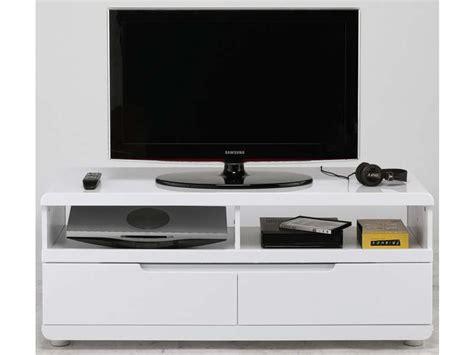 Meuble Tv 120 Cm Meuble Tv 120 Cm Finition Laqu 233 Bel Air Coloris Blanc Vente De Meuble Tv Conforama