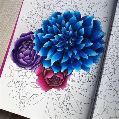 fleurs wip   prismacolor pencils arttherapie