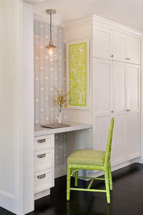 kitchen office nook built in desk transitional kitchen summer thornton design