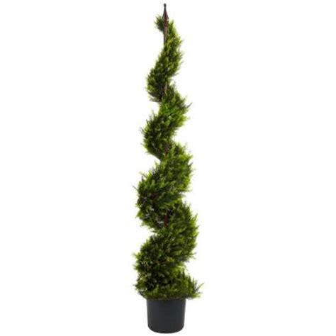 cypress home depot nearly natural 5 ft green cypress spiral tree 5325 the home depot