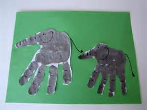 Elephant Handprint Craft