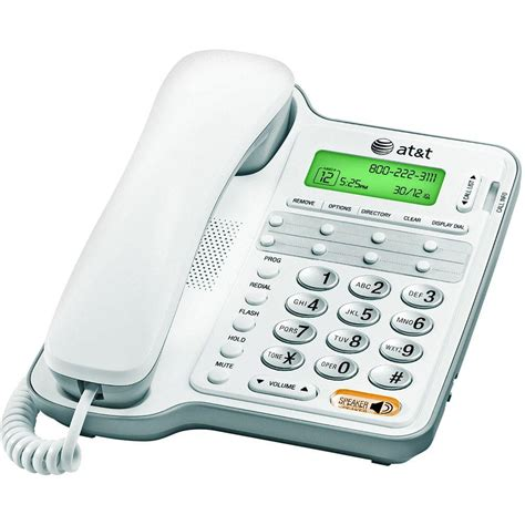 corded wall phone with caller id at t corded telephone with caller id call waiting and