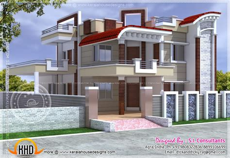 Exterior Design Of House In India  Kerala Home Design And