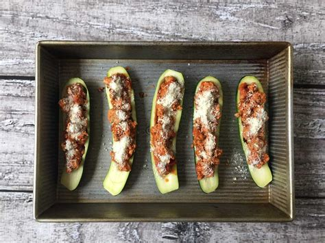 How To Make Zucchini Boats With Chicken by Chicken Parmesan Zucchini Boats Recipe