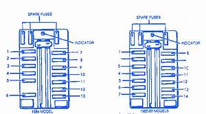 Chrysler Conquest 2600 1989 Fuse Box  Block Circuit Breaker Diagram  U00bb Carfusebox
