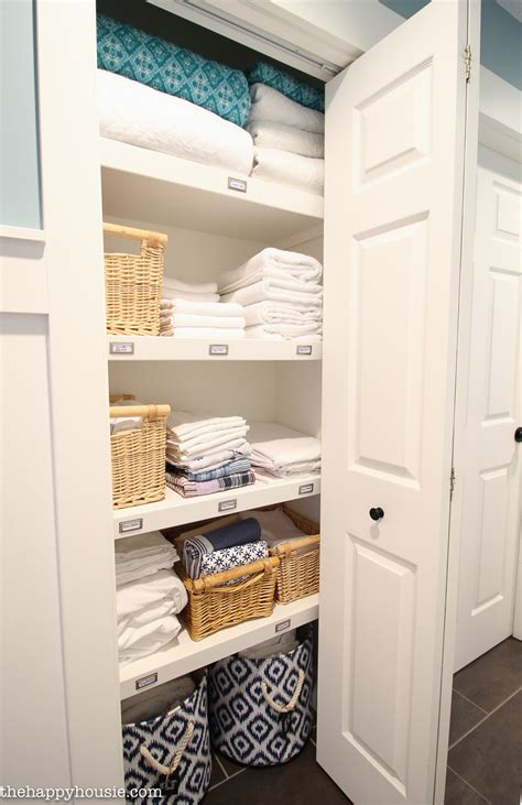 The Linen Closet by How To Completely Organize Your Linen Closet The Happy