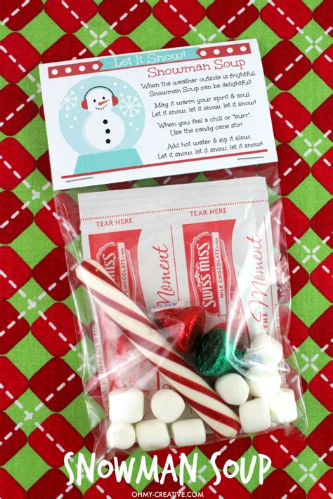 snowman soup gift recipe oh my creative