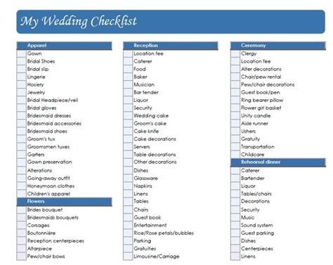 wedding checklist uk google search stuff  buy
