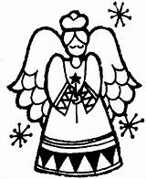 Angel Coloring Christmas Pages Sheet sketch template