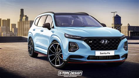 New Hyundai Santa Fe 2020 rendered 2019 hyundai santa fe n will hyundai go all in