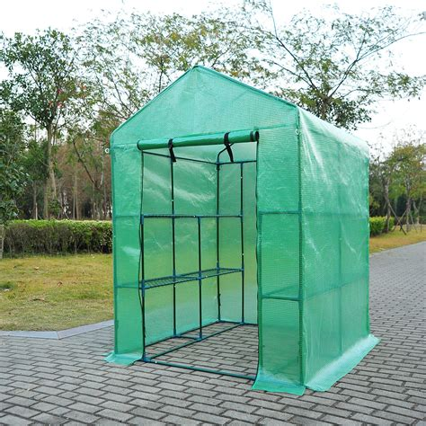 outsunny      garden polytunnel greenhouse plastic plant grow tent  ebay