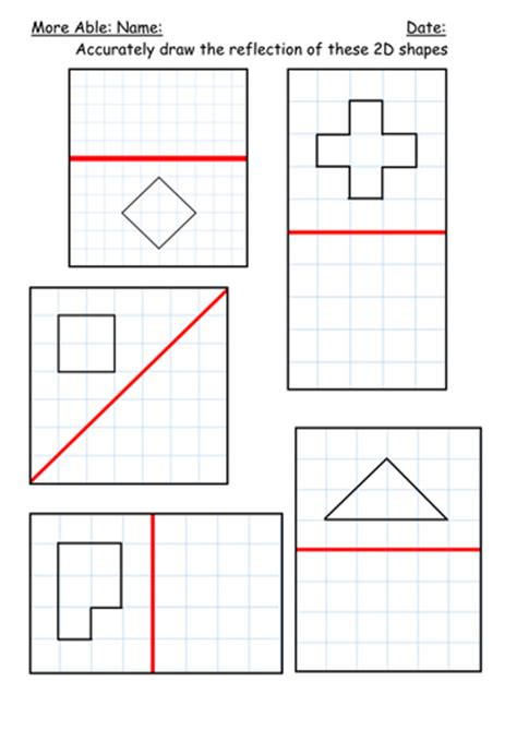 Reflection Of Shapes By Kbarker86  Teaching Resources Tes