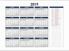 Free Printable 2019 UAE Calendar Templates with Holidays