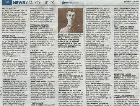 Newspaper Articles   William Duperouzel