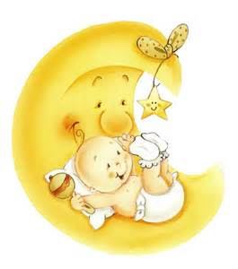 Moon and Stars Baby Shower Clip Art