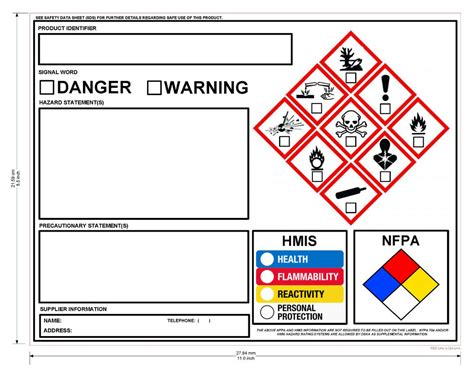 ghs chemical label osha hmis nfpa diamond