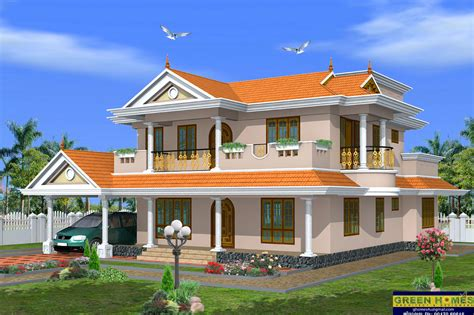 two house designs green homes beautiful 2 storey house design 2490 sq
