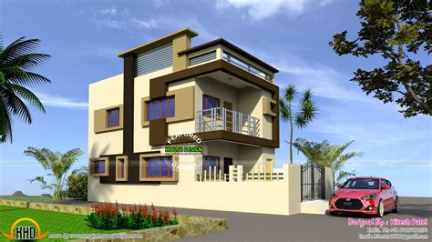 indian model flat roof house kerala home design