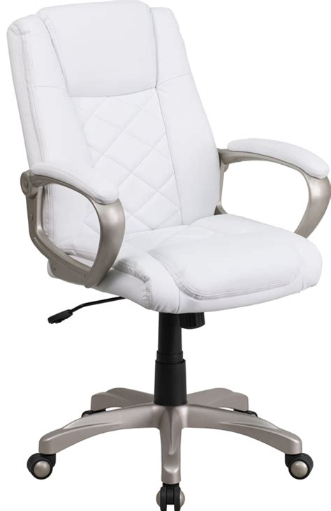 flash furniture high back white leather executive swivel