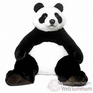 Peluche Géante Panda : geant wwf panda assis 100 cm 23 183 001 photos collection peluche de wwf ~ Teatrodelosmanantiales.com Idées de Décoration