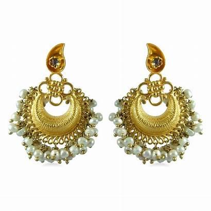 Gold Earrings Earring Designs Ladies Indian Designer