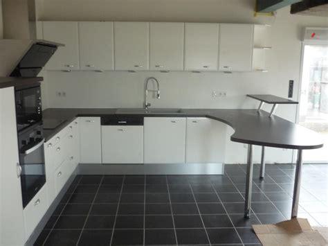 photo de cuisine blanche les cuisines aménagées