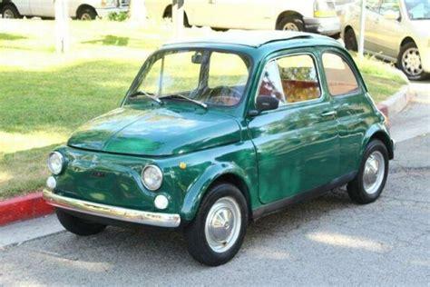 Fiat California by 1967 Fiat 500 Clean California Title 66559 Green