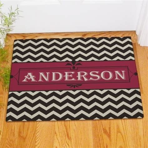 Personal Doormats by Personalized Last Name Chevron Family Welcome Doormat