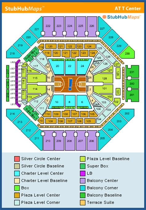 att center seating chart pictures directions  history san antonio spurs espn