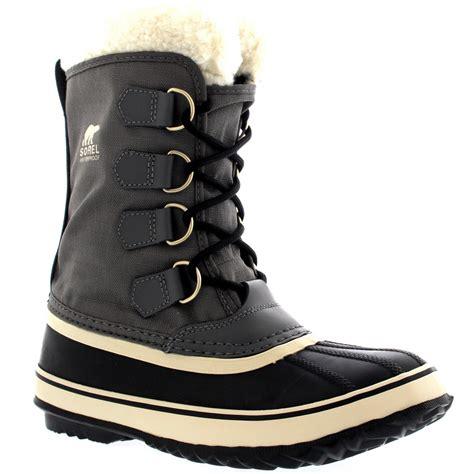 fleece mid calf boots womens sorel winter carnival waterproof duck winter