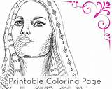 Coloring Pages Turban Template Egyptian sketch template